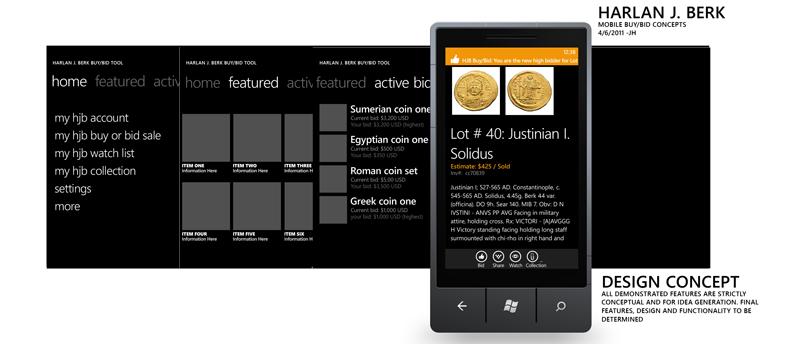 Harlan J. Berk Mobile Buy/Bid Concept