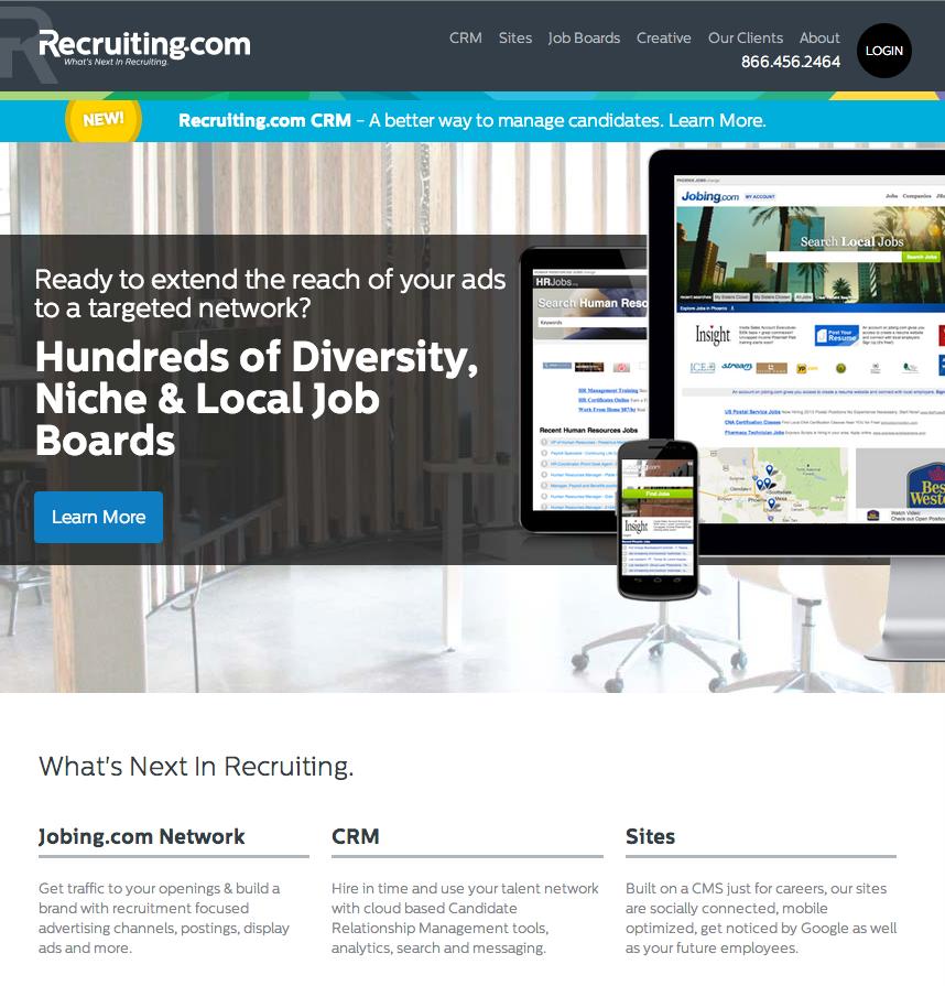 Recruiting.com Marketing Site