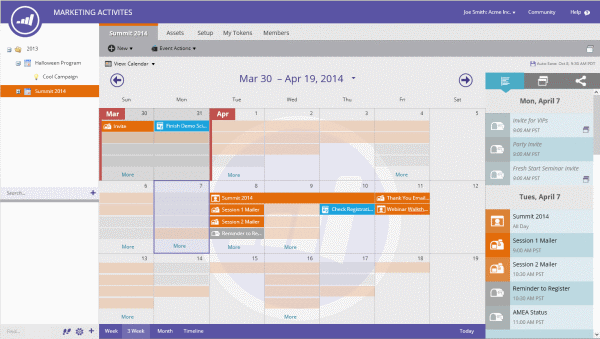 Marketo Marketing Calendar