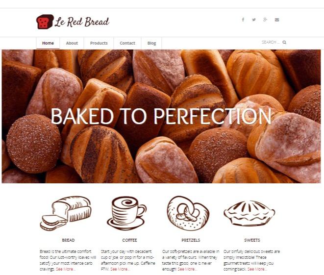Le Red Bread Wordpress website