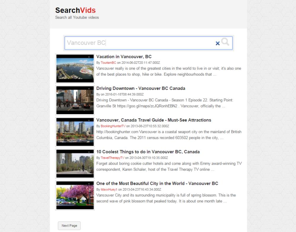 SearchVids - YouTube video search script
